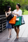 Two women with shopping bags, walking - Alex Microstock02