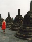 Eurasian model at Borobudur temple - Martin Westlake