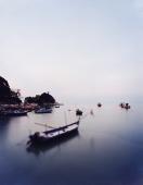 Fishing boats at sundown - Martin Westlake