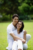 Couple embracing, smiling at camera - Alex Microstock02