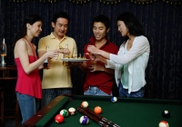 Couples eating appetizers - Alex Microstock02