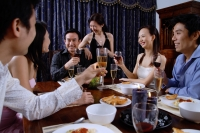 Adults having dinner at home - Alex Microstock02