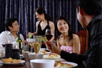 Couples having dinner at home - Alex Microstock02