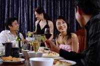 Couples having dinner at home - Alex Microstock02
