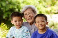 Grandmother with two grandsons - Alex Microstock02