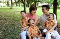 Family with three boys in park - Alex Microstock02