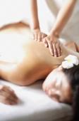 Woman undergoing back massage, selective focus - Alex Microstock02