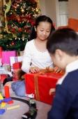 Children opening Christmas presents - Alex Microstock02