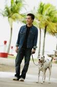 Man walking his dog - Wang Leng