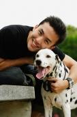 Man hugging Dalmatian - Alex Microstock02