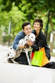 Couple embracing Dalmatian - Alex Microstock02