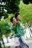 Couple on tandem bicycle - Alex Microstock02