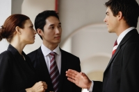 Businessmen and businesswoman having a discussion - Alex Mares-Manton