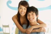 Couple smiling at camera - Alex Microstock02