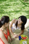 Two women having a picnic in park - Alex Microstock02