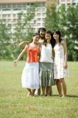 Young women smiling at camera - Wang Leng