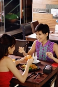 Young women having a meal in restaurant - Wang Leng