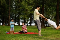 Family of four in park - Yukmin
