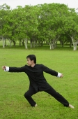 Man in park, practicing tai chi - Alex Mares-Manton