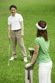 Couple on golf course - Alex Mares-Manton