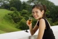 Young woman with champagne glass - Yukmin
