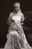 Woman in wedding gown, portrait - Alex Mares-Manton