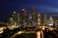 Skyline of Singapore at night - Yukmin