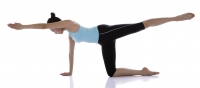 Female gymnast doing floor gymnastics - blueduck