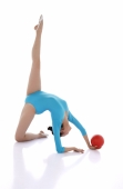 Rhythmic gymnastics, woman doing routine with ball - blueduck