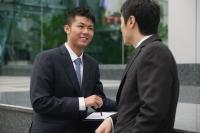 Businessmen talking - blueduck