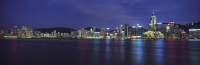 Panoramic Hong Kong skyline at night - OTHK
