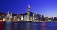 Hong Kong skyline from Kowloon at night - OTHK