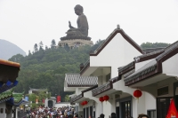 Giant Buddha statue and Ngon Ping Village, Lantau, Hong Kong - OTHK