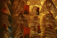 Spiral incense in Tai Hang  Lotus Temple, Hong Kong - OTHK
