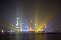 Light show in Pudong, Shanghai, China - OTHK
