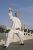 An old man practices Chinese martial arts - Alex Mares-Manton