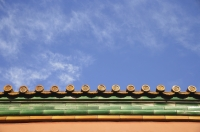 Detail of the roof of a temple - Alex Mares-Manton
