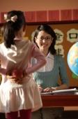 Schoolgirl with apple for teacher - Alex Mares-Manton