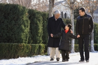 Grandfather, son and grandson in the park - Alex Mares-Manton