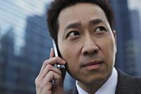 Head shot of mature man talking on phone - Alex Mares-Manton