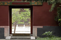 Empty doorway to Chinese Temple, Beijing, China - Alex Mares-Manton