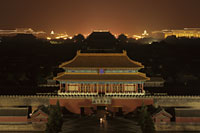 Aerial view of the Forbidden City at night - Alex Mares-Manton