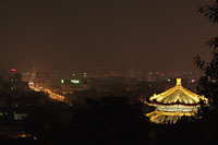 Aerial view of Beijing at night , China - Alex Mares-Manton