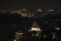 Aerial view of Beijing city scape at night, China - Alex Mares-Manton