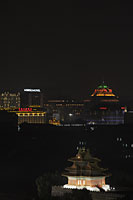 Night view of Beijing city scape at night, China - Alex Mares-Manton