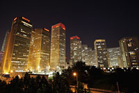 Night shot of the CBD area, Beijing China - Alex Mares-Manton