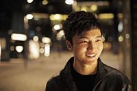 Head shot of young man at night - Alex Mares-Manton