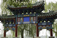 Old traditional Chinese gate in park, Beijing, China - Alex Mares-Manton