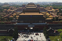Aerial view of the Forbidden city, Beijing, China - Alex Mares-Manton