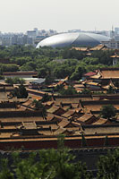 Aerial view of Forbidden City and the National Grand Theater, Beijing, China - Alex Mares-Manton